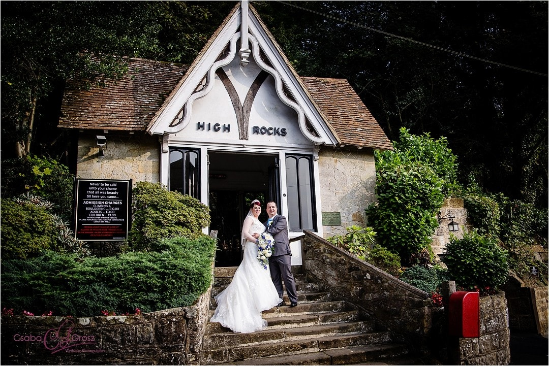 Wedding photography at High Rocks