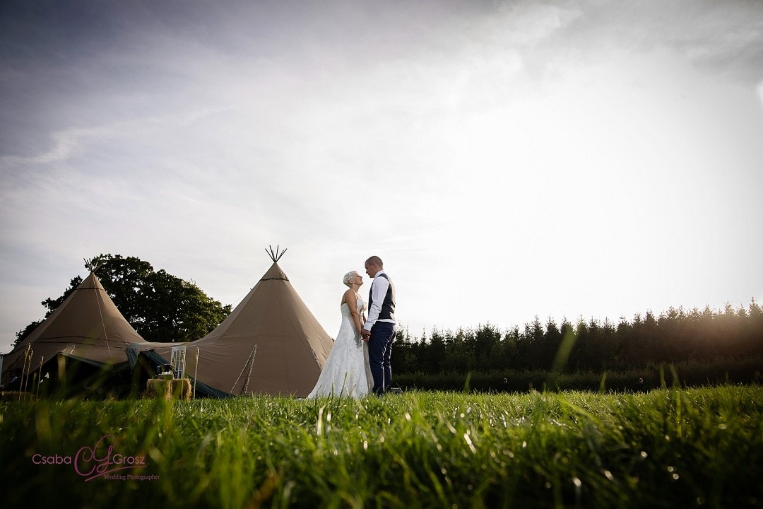Stunning and Fun Tipi Wedding Photography in Hertfordshire